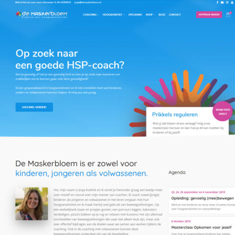 de Maskerbloem website