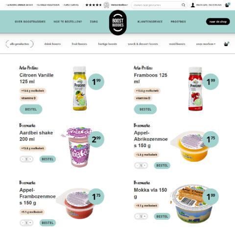 BoostBuddies maatwerk Woocommerce webshop